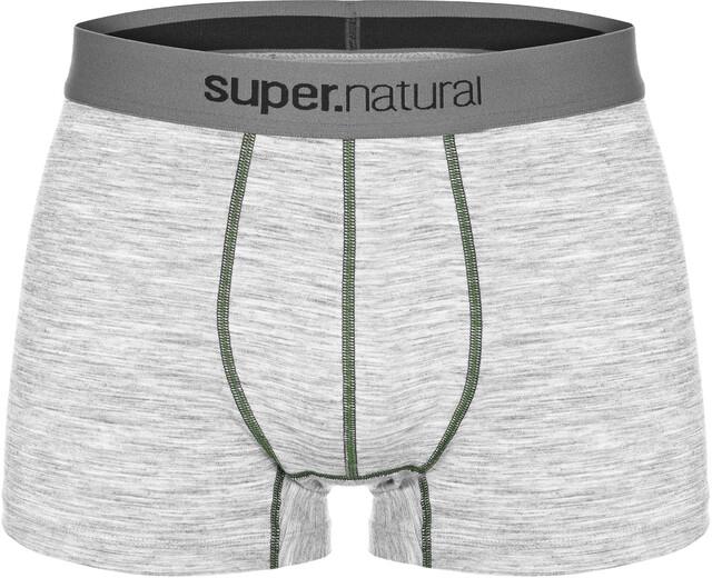 super.natural M's Base Mid Boxer 175 Ash Melange/Duffel Bag